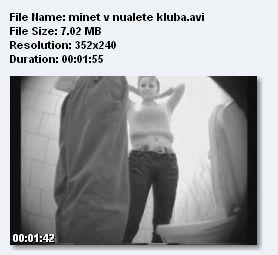 18. Молоденькая девочка решила сделать минет парню в туалете ночного