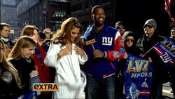 Maria Menounos Hosting Extra In A New Jersey Giants Bikini-Must See
