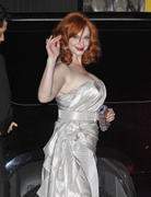 Christina Hendricks arriving at the AMC Emmy After Party in Hollywood 9/23/12